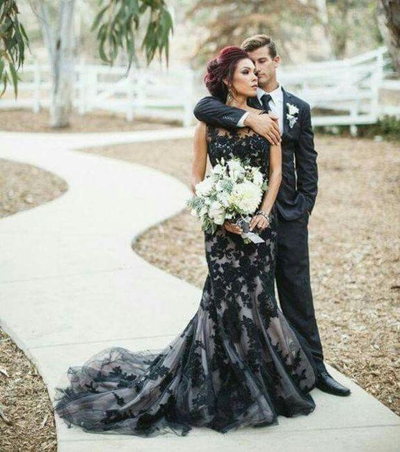 vestidos de novia en color negro - foro moda nupcial - bodas.mx