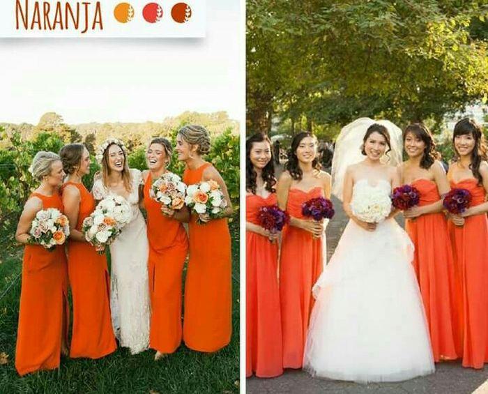 Vestidos para damas de honor naranja