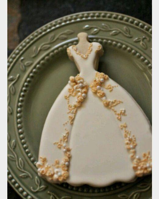 Galletas en forma de vestido de novia