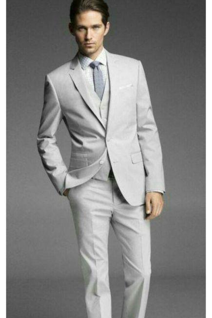 vestidos de novio color gris