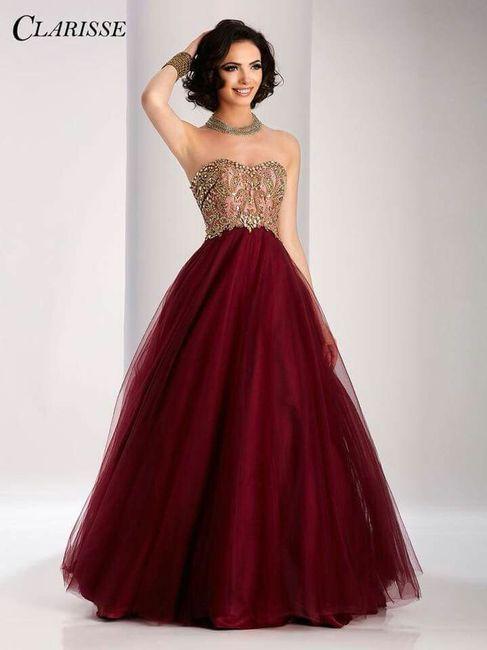 Vestido de boda en rojo