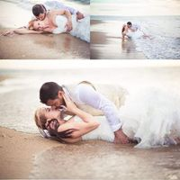 Trash the dress en la playa - 1