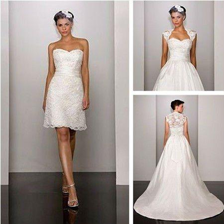 Vestidos de novia corte sirena desmontables