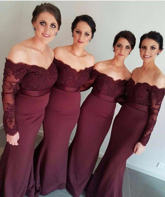 Vestidos Para Damas De Novia Color Vino Vestidos De Punto 2019