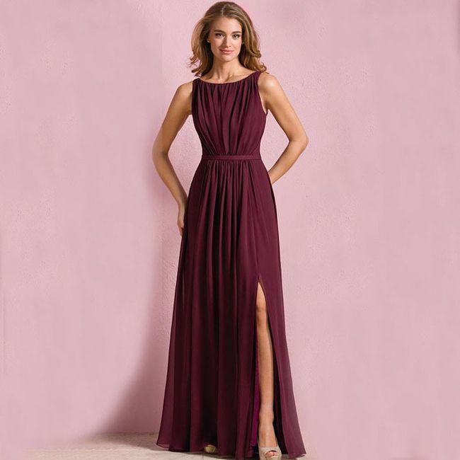 Vestidos para damas de boda color vino – Moda Española moderna 2018
