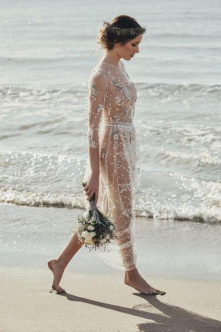 Vestidos playeros para boda en la playa