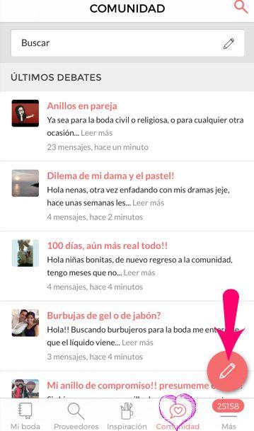 Cómo hacer un debate desde la app 📱 - Foro Soporte - bodas.com.mx a9d72ba828f65