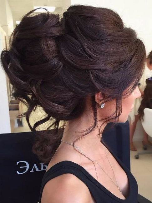 Peinados de novia recogidos despeinados