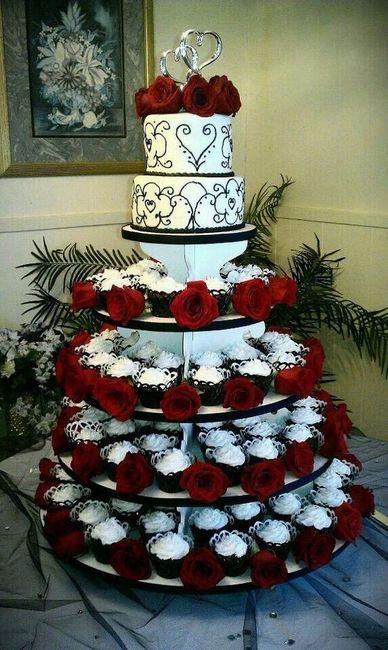 Pasteles de boda en negro rojo y blanco foro for Decoracion blanco negro rojo
