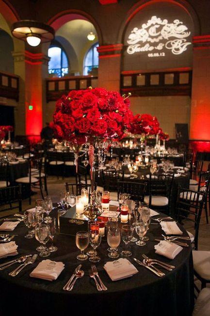 Decoraci n de boda en negro rojo y blanco foro for Idea deco en blanco y negro