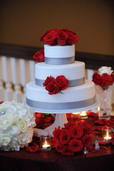 pictures of red and silver wedding cakes 161 10 pasteles rojo con plateado foro banquetes bodas 18422