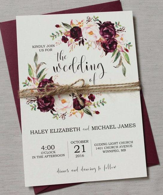 El Dorado Blue Card >> Invitaciones en color vino - Foro Organizar una boda ...