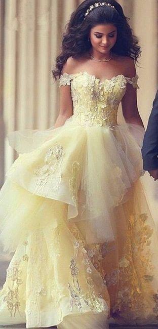 9 vestidos de novia color amarillo - foro moda nupcial - bodas.mx