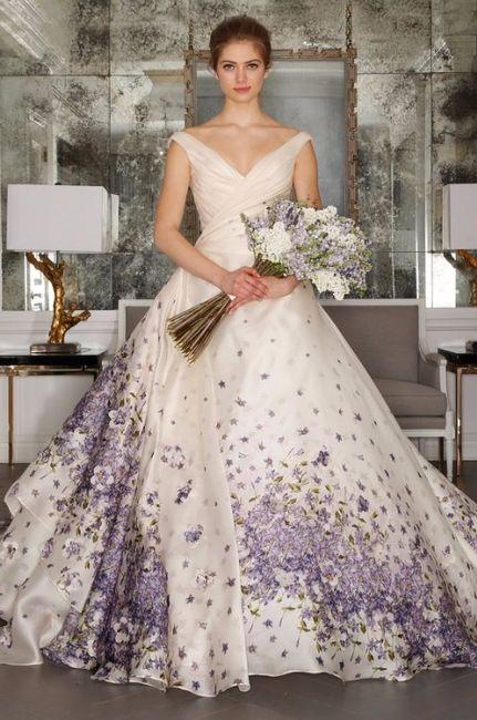 vestidos de novia color morado - foro moda nupcial - bodas.mx