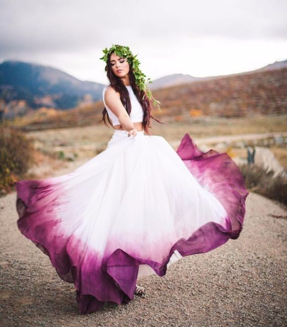 vestidos de novia artísticos - foro moda nupcial - bodas.mx