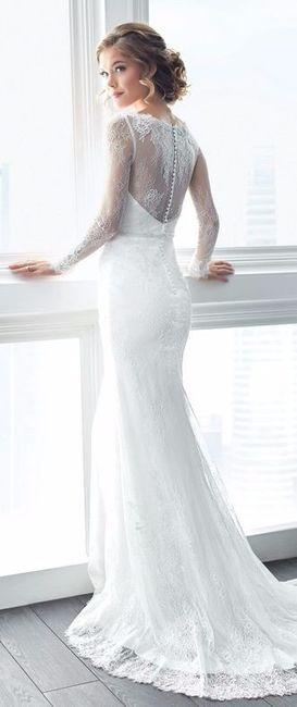 d53340a45 6 Hermosos vestidos de manga larga - Foro Moda Nupcial - bodas.com.mx