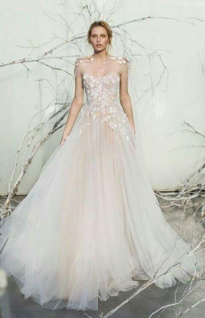 Vestidos de novias floreados