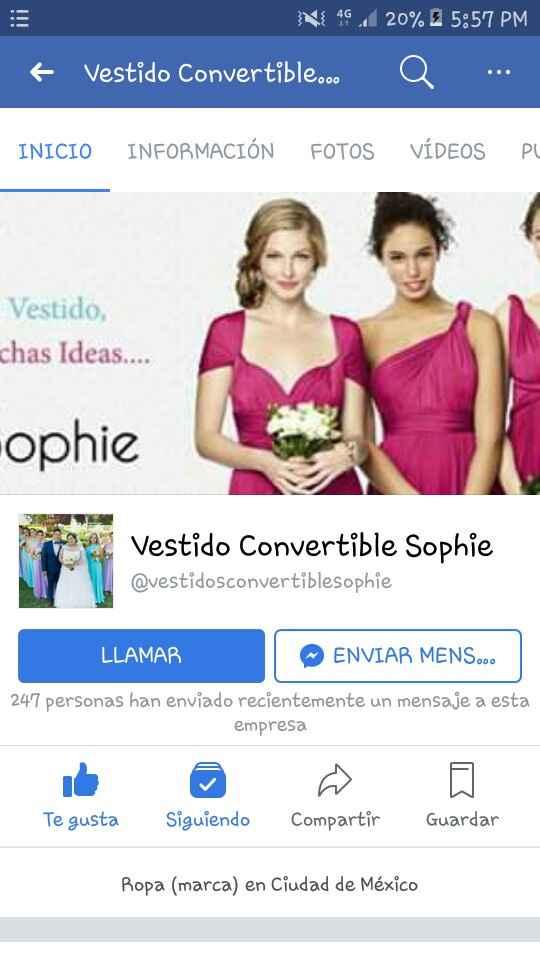 Vestido Converrible Sophie - 1