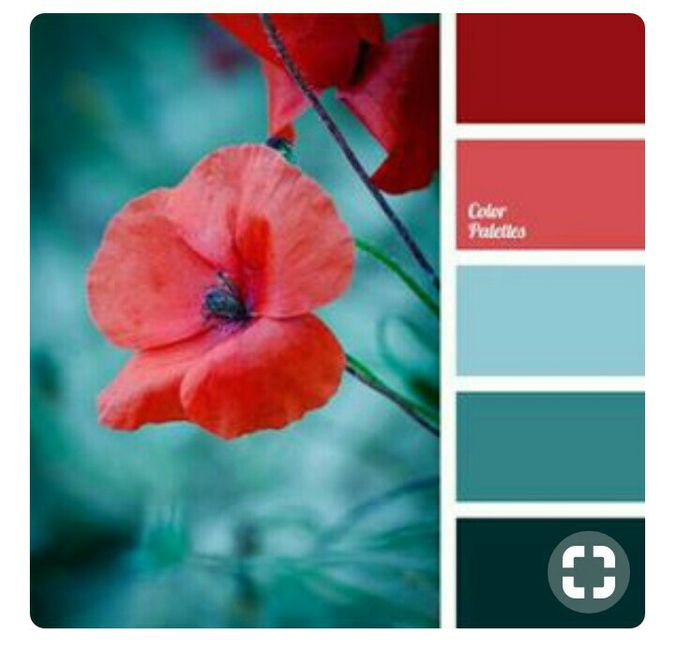 Paleta De Colores Para Boda Color Rojo 🔴 Foro Moda
