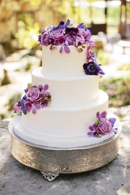 Pasteles de boda con flores 22