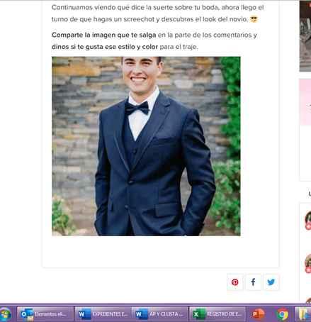 Haz screenshot y descubre el look de novio - 1