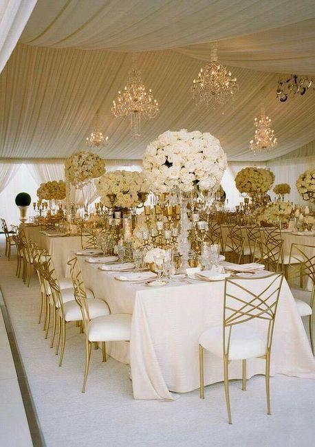 decoración boda color dorado - foro organizar una boda - bodas.mx