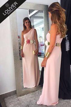 Vestido rosa palo para graduacion