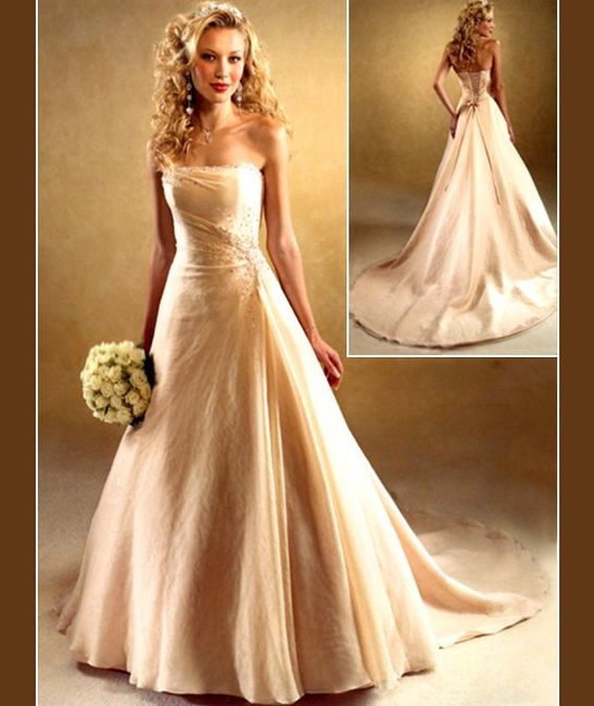 Fotos de vestidos de novia color champagne