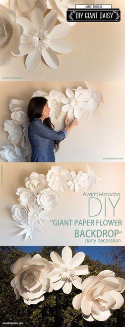 Diy Flores Gigantes