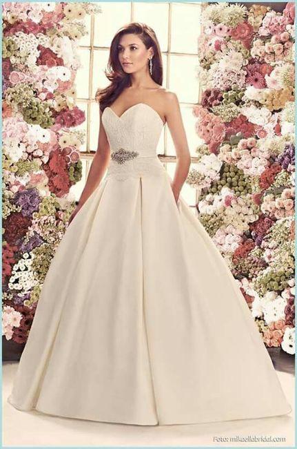 Costo de vestido de novia corte princesa