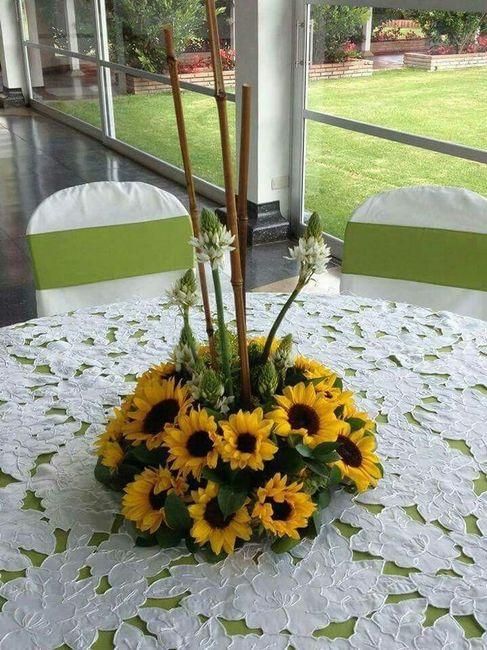 Decoraci n con girasoles foro manualidades para bodas for Adornos para plantas con llantas