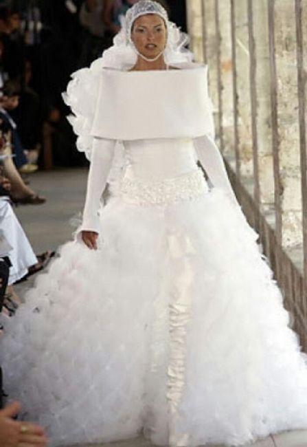 Top ten de los vestidos de novia más feos!! 3