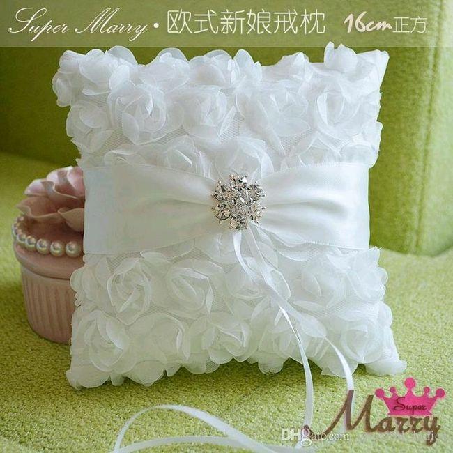 Ideas: cojines para los anillos - 8 - Fotos Manualidades para bodas
