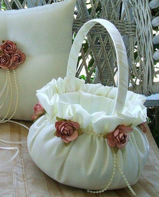 Ideas canastas para las ni as de las flores o para las - Decorar cestas de mimbre paso a paso ...