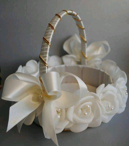 Ideas canastas para las ni as de las flores o para las oraciones y recuerditos foro - Decorar cestas de mimbre paso a paso ...