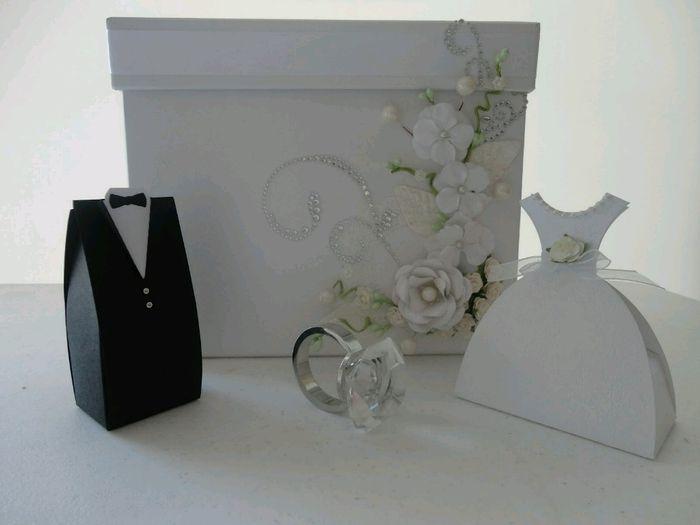 Caja para sobres foro manualidades para bodas for Como hacer cajas para regalos de boda