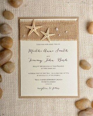 Ideas de invitaciones/ boda en la playa 32