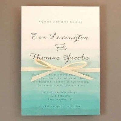 Ideas de invitaciones/ boda en la playa 33