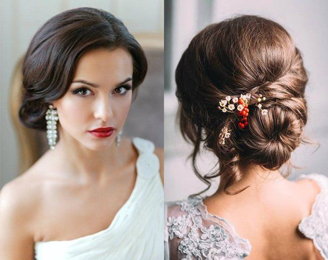 Peinados recogidos para novias 15