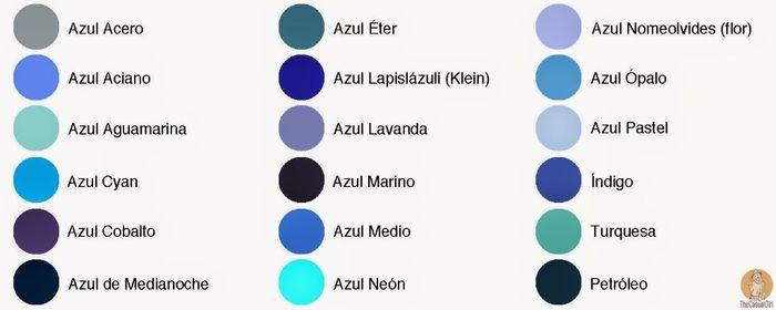 Sugerencias de colores para boda de noche foro organizar una boda - Gamas de colores azules ...