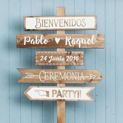 Letreros de madera foro organizar una boda - Carteles originales ...