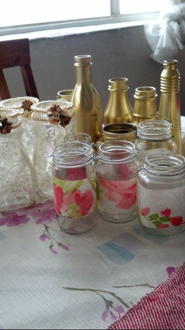 frascos decorados vintage 2 fotos manualidades para
