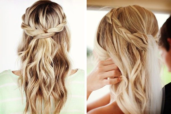 Ideas De Peinados Con Pelo Suelto Y Trenza Foro Belleza Bodascommx - Peinado-suelto-con-trenzas