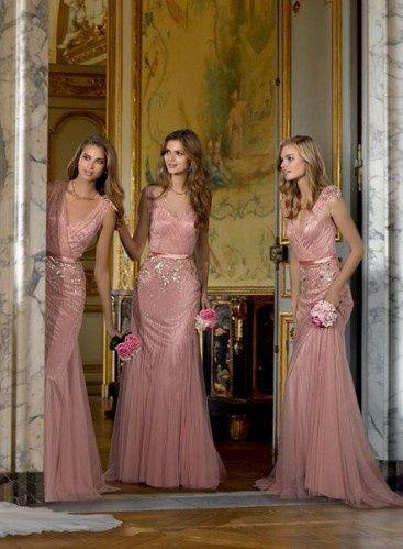 Damas De Honor Rose Gold Foro Moda Nupcial Bodascommx