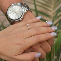 reloj  y  anillo de compromiso