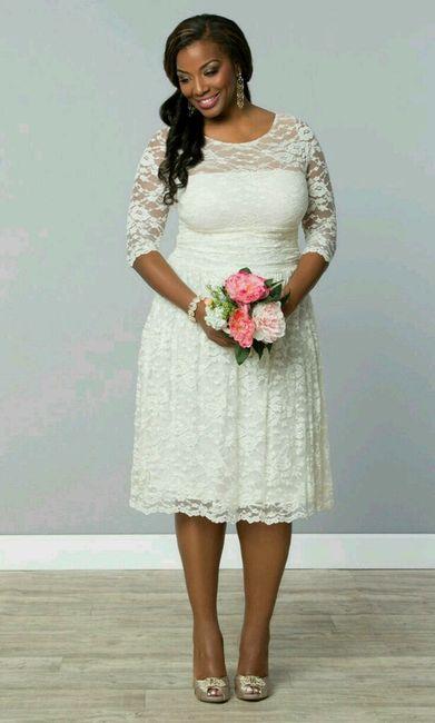 Vestidos para boda civil para gorditas