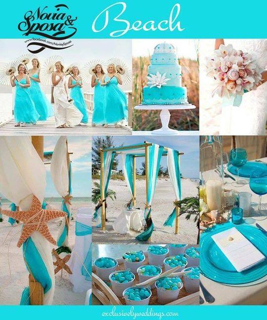 Turquoise Blue White Beach Theme Kitchen: Ayuda Boda En La Playa