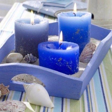 Centros de mesa en color azul 9