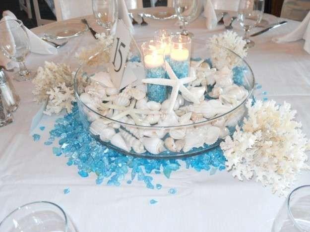 Centros de mesa en color azul 11
