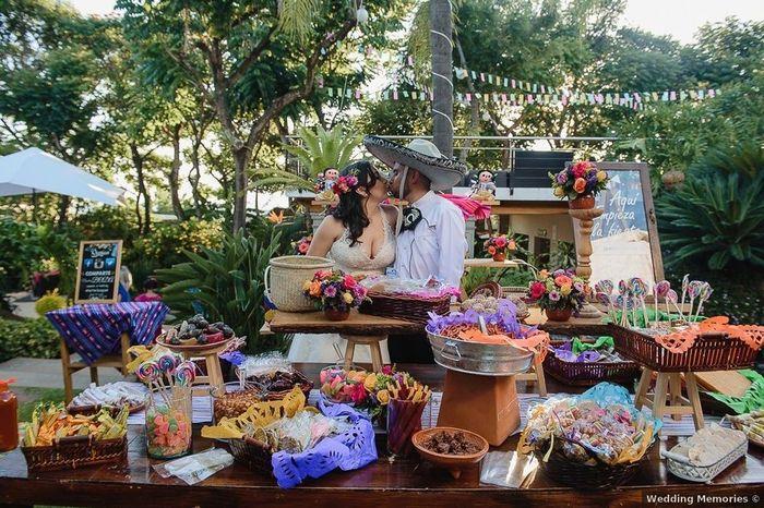 Mesa de dulces mexicanos 1